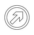 Arrow in round emblem vector image vector image