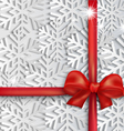 background red bow vector image vector image