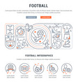 banner football vector image