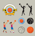Basketball Player and Graphic Elements vector image