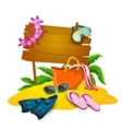 Beach And Summer Background vector image