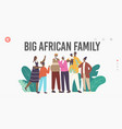 big african family landing page template father vector image