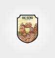 big bend national park logo symbol design travel vector image vector image