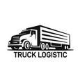 big truck logo template for you design in black vector image vector image