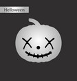 black and white style icon of halloween pumpkin vector image