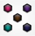 button hexagon vector image vector image