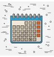 Calendar Icon Calendar Icon Calendar Icon Drawing vector image vector image