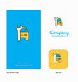 car garage company logo app icon and splash page vector image vector image