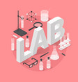 chemistry laboratory objects vector image vector image