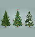 Christmas tree set for greeting card invitation