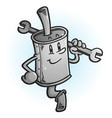 clean new muffler cartoon character vector image vector image