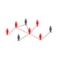 connecting people social network concept vector image vector image