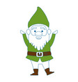 cute gnome character icon vector image