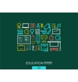 Education integrated thin line symbols Modern vector image vector image