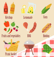 elements a barbecue party vector image