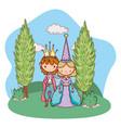 fairytale character cartoon vector image