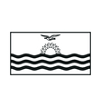 Flag of Kiribati monochrome on white background vector image vector image