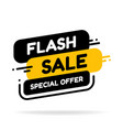 flash sale and special offer tag price tags sales vector image