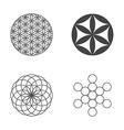 flower life set icons design elements vector image vector image