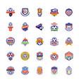 football badge icons vector image