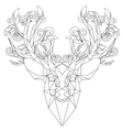 Front view of animal head triangular icon deer vector image vector image