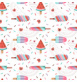 fruit ice cream seamless pattern in flat vector image vector image