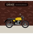 Garage with motorcycle vector image vector image