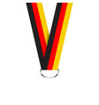 german ribbon for medal german tricolor vector image