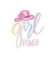 girls power motivational quote poster vector image vector image