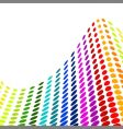 halftone colorful design vector image vector image