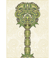hand draw ornate abstract ornamental floral tree vector image vector image