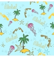 Hawaii cocktail seamless pattern blue color vector image vector image
