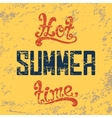 Hot summer time Calligraphic handwritten vintage vector image