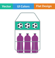 Icon of football field bottle container vector image vector image
