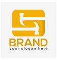 letter s hammer logo flat design vector image vector image