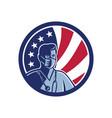 male nurse wearing surgical mask usa flag mascot vector image vector image