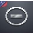 Minus icon symbol 3D style Trendy modern design vector image