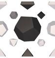 monochrome geometrical seamless pattern vector image vector image