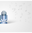 Music background with microphone shape and musical vector image vector image