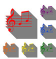 music violin clef sign g-clef and notes g h set vector image vector image