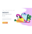 nutrition diet concept landing page vector image vector image