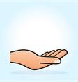 open hand concept design vector image