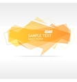 orange speech template vector image vector image