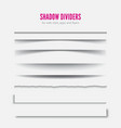 page divider transparent realistic paper shadow vector image