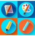 Painting and Drawing Icons set vector image