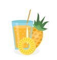 Pineapple juice in a glass Fresh isolated on vector image vector image
