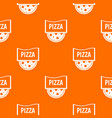 pizza badge or signboard pattern seamless vector image vector image