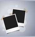 realistic polaroid photo frame template vector image vector image
