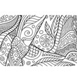rectangle coloring book page with abstract pattern vector image vector image