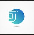 round symbol letter j design minimalist vector image vector image